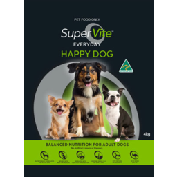 Photo of Super Vite Dog Food Everyday Happy Dog 4kg
