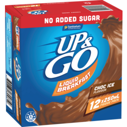 Photo of Up&Go No Added Sugar Choc Ice 12x250ml
