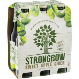 Photo of Strongbow Sweet Apple Cider 6 X 355ml Bottles