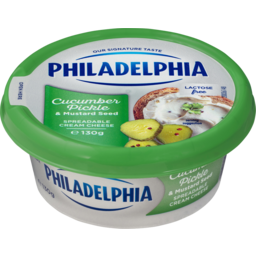 Photo of Philadelphia Flavoured Spreadable Pickled Cucumber With Mustard Seed 130g