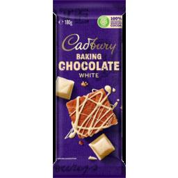 Photo of Cadbury Baking Choc White Bloc 180gm
