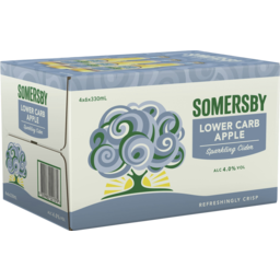 Photo of Somersby Lower Carb Apple Cider Bottle 330ml 24 Pack