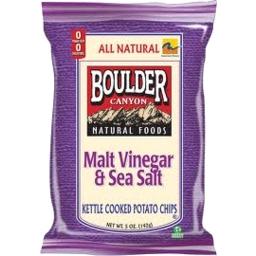Photo of Boulder Malt Vinegar & Sea Salt Chips 142gm