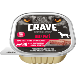 Photo of Crave Beef Pate Dog Food 100g