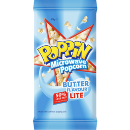 Photo of Poppin Microwave Popcorn Butter Flavour Lite 85gm