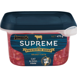 Photo of Jimbo's Cat and Dog Supreme Beef Mince 475g