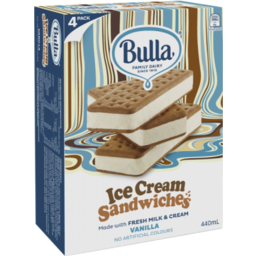 Photo of Bulla Ice Cream Sandwiches Vanilla 4pk