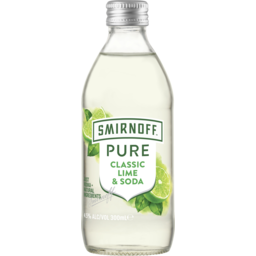 Photo of Smirnoff Pure Lime & Soda Bottles