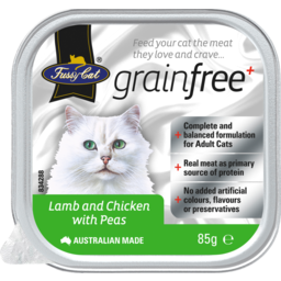 Photo of Fussy Cat Grain Free Lamb And Chicken With Peas 85g