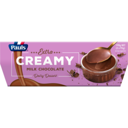 Photo of Pauls Extra Creamy Milk Chocolate Dairy Dessert 2 Pack 190g