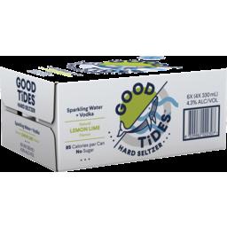 Photo of Good Tides Hard Seltzer Lemon Lime 330ml 24 Pack