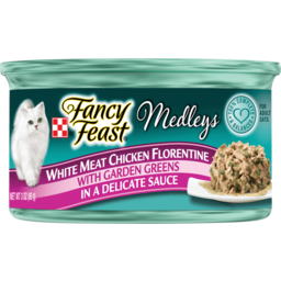 Photo of Fancy Feast Cat Food Elegant Medleys White Meat Chicken Florentine 85g