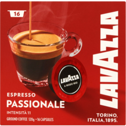 Photo of Lavazza Espresso Passionale Intensita 11 Ground Coffee Capsules 120g