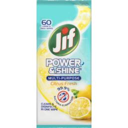 Photo of Jif Natural Wipes Citrus 60pk