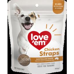Photo of Love'em Chicken Straps 150g