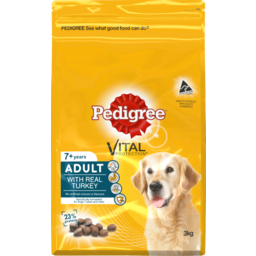 Photo of Pedigree Dog Food Dry Adult 7+ With Real Turkey 3kg