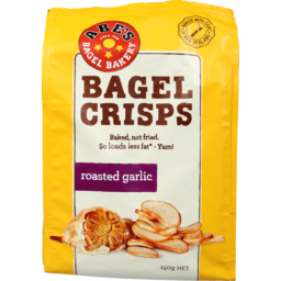 Photo of Abe's Real Bagel Crisps Garlic 150g 150g