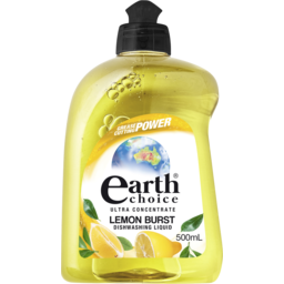 Photo of Earth Choice Ultra Dishwashing Liquid Lemon Burst 500ml