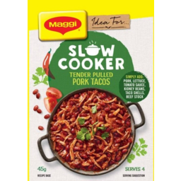 Photo of Maggi Slow Cooker Tender Pulled Pork Tacos 45g