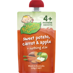 Photo of Raffertys Garden Sweet Potato Carrot & Apple 120g
