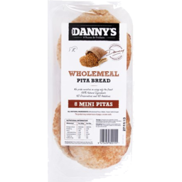 Photo of Dannys Pita Mini Wholemeal 8 Pack