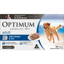 Photo of Optimum Nutrition For Life With Chicken & Rice Adult Dog Food 24x100g