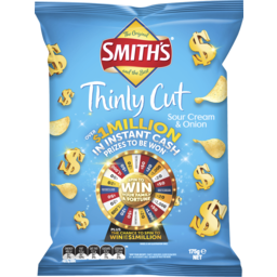 Photo of Smith's Thinly Cut Sour Cream & Onion 175g