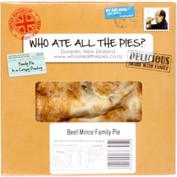 Photo of Who Ate All The Pies Beef Mince Family Pie 750g
