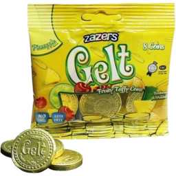 Photo of Zazers Gelt Taffy Gold 8 Coins 39g