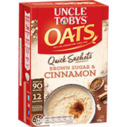 Photo of Uncle Tobys Oats Quick Sachets Brown Sugar & Cinnamon 420gm
