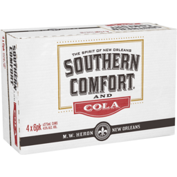 Photo of Southern Comfort & Cola Cans