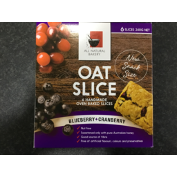 Photo of All Natural Bakery Oat Slice Blueberry & Cranberry 240g 6 Pack