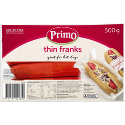 Photo of Primo Thin Franks 500g