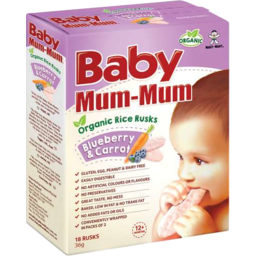 Photo of Baby Mum-Mum Organic Rice Rusks Blueberry And Carrot 36gm
