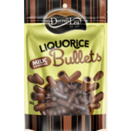 Photo of Darrell Lea Milk Choc Liquorice Bullets 250g