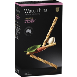 Photo of Waterthins Parmesan & Garlic Twists 110g