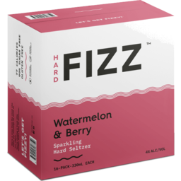Photo of Hard Fizz Watermelon & Berry Seltzer Cans - 16 X 330ml