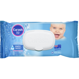 Photo of Curash Babycare Simply Water Baby Wipes 80 Pack