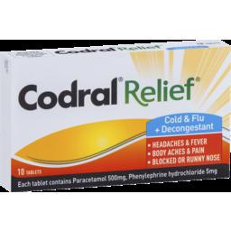 Photo of Codral Relief Cold & Flu + Decongestant 10x