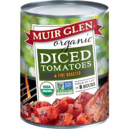 Photo of Muir Glen - Diced Tomatoes Fire Roasted - 794g