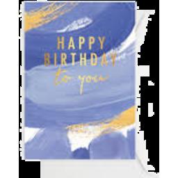 Photo of Elm Happy Birthday Brushy Ocean $6.50