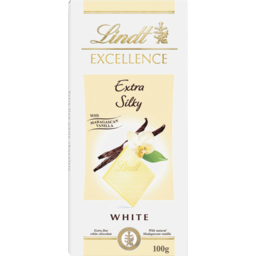 Photo of Lindt Excellence Extra Silky White) Chocolate 100g
