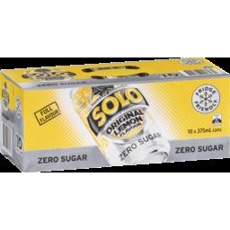 Photo of Solo Thirst Crusher Zero Sugar Original Lemon 10x375ml