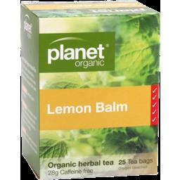 Photo of Planet Organic - Lemon Balm - 25 Tea Bags - 28g