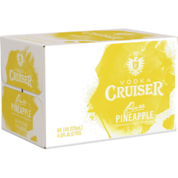Photo of Vodka Cruiser Pineapple 4.6% 275ml 24 Pack