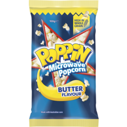 Photo of Poppin Microwave Popcorn Butter Flavour 100g