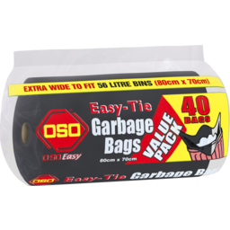 Photo of Oso Garbage Bag Twin Tie Rl40s
