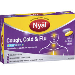 Photo of Nyal Cough, Cold & Flu Day Night Tablets 24pk