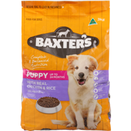 Photo of Baxter's Dog Food Dry Biscuits, Puppy Up To 24 Months, Chicken & Rice 3kg