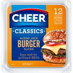Photo of Cheer Classics Aussie Jack Burger Cheese Slices 12 Pack 250g